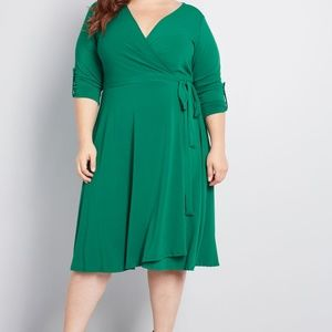Modcloth Say Yes To Timeless Wrap Dress